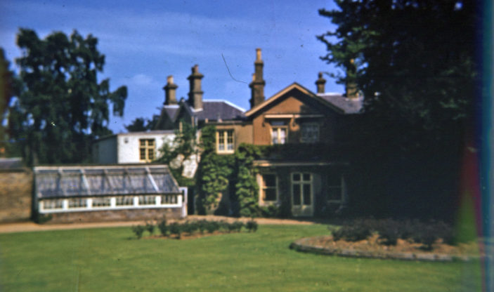 Bengeo Lodge from walled garden   Woodhouse family